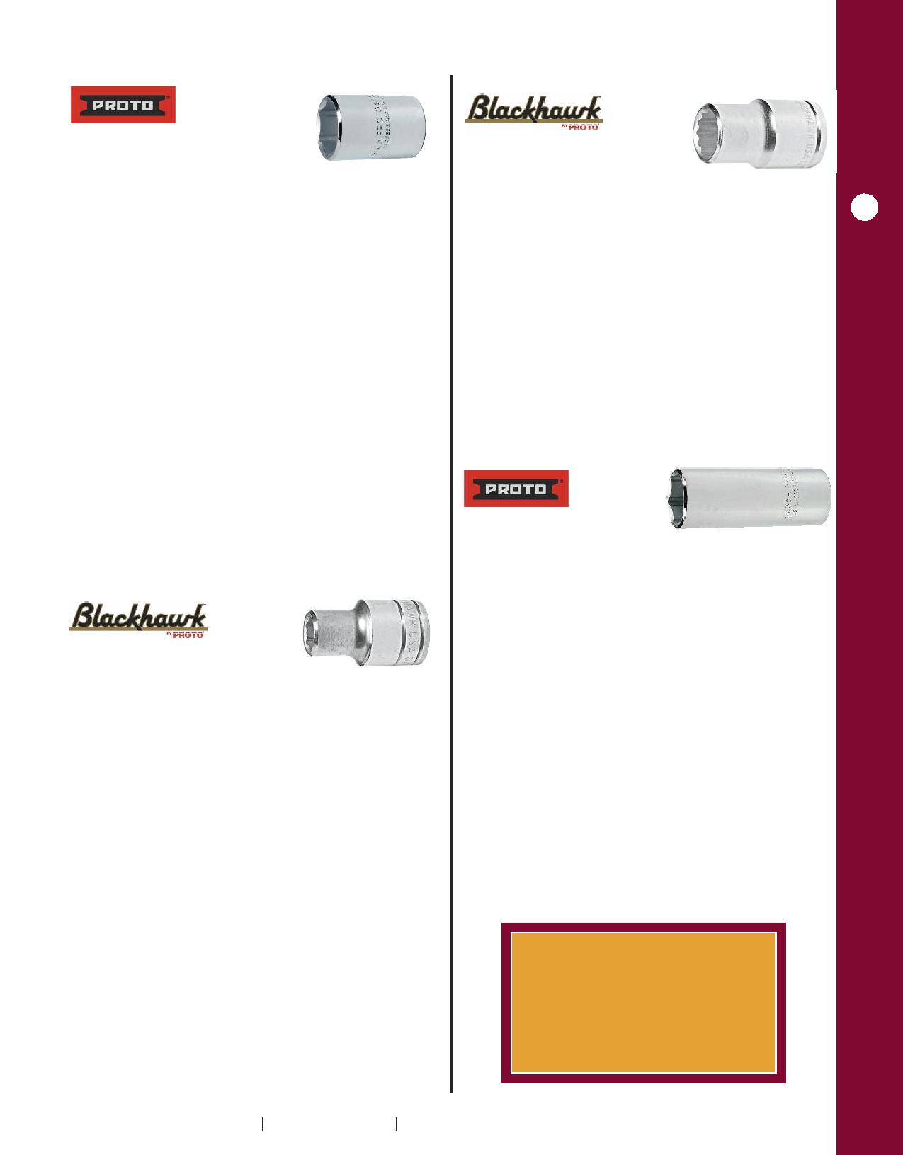 "7//8/"" Standard Depth Impact Socket NOS 07514 Proto 3//4/"" Drive"