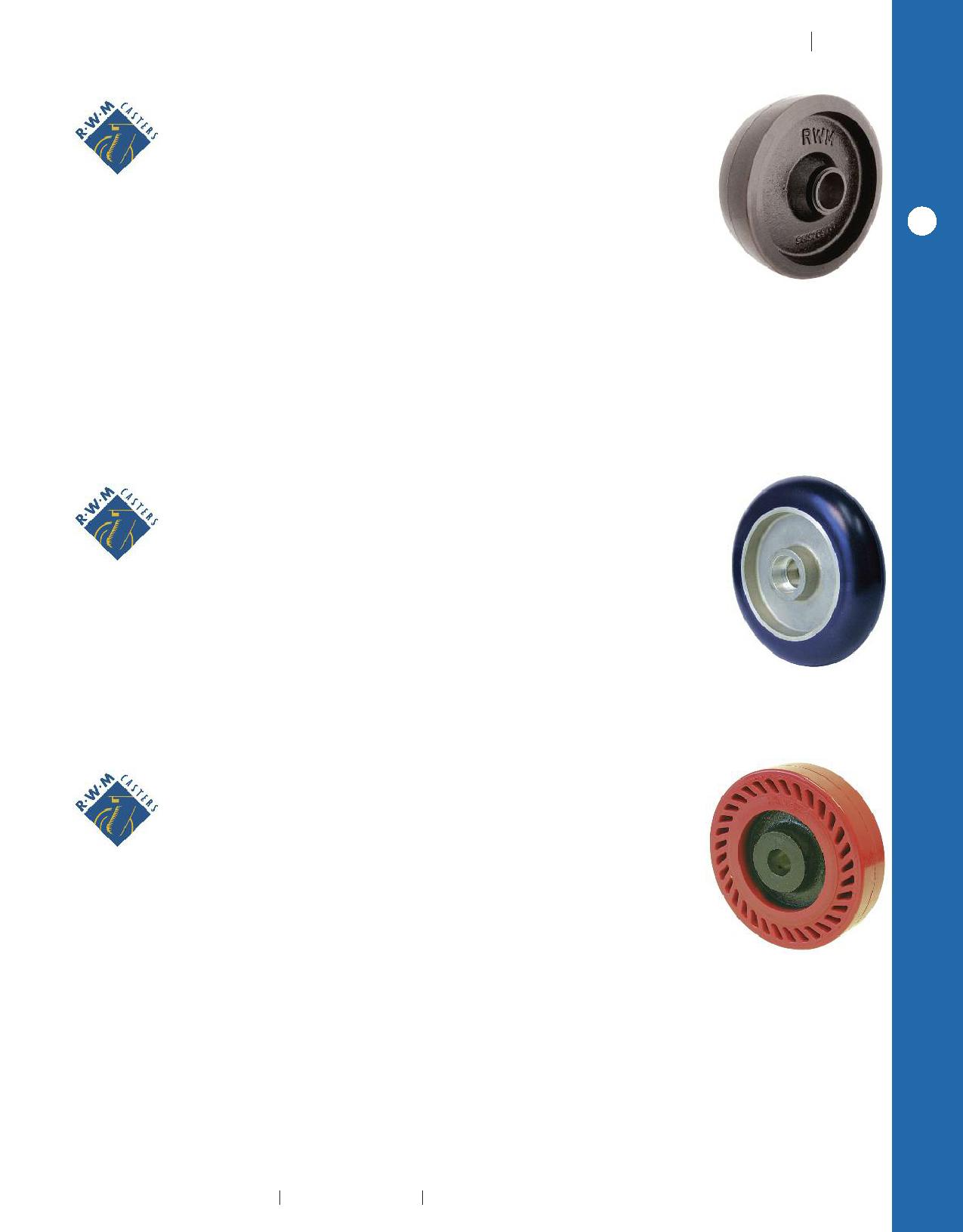 RWM Casters 65-MUB-0520-S 65 Series 6-1//2 High Swivel Caster 5 Solid Urethane Wheel